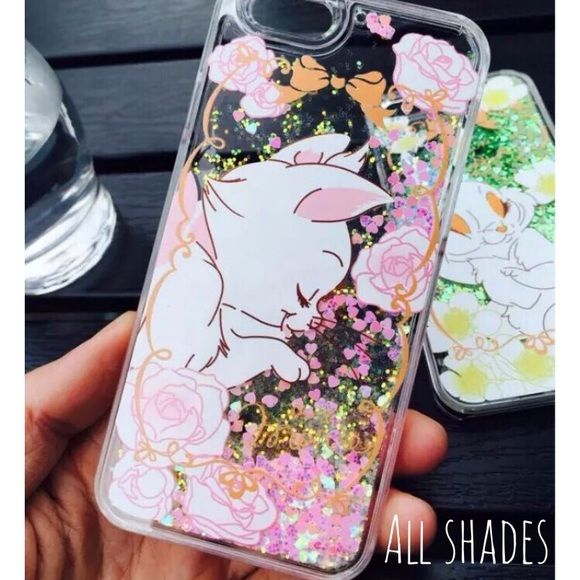 Marie cat glitter liquid iPhone 6 6s case Disney Brand new! Only 1 available! Includes one screen protector. Japan Disney. Accessories Phone Cases