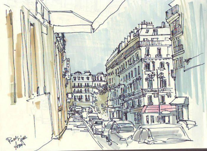 Летний экстрим-скетчинг. Как это было? | Школа рисования для взрослых Вероники Калачёвой — Kalachevaschool | Обучение вживую в Москве и онлайн по всему миру