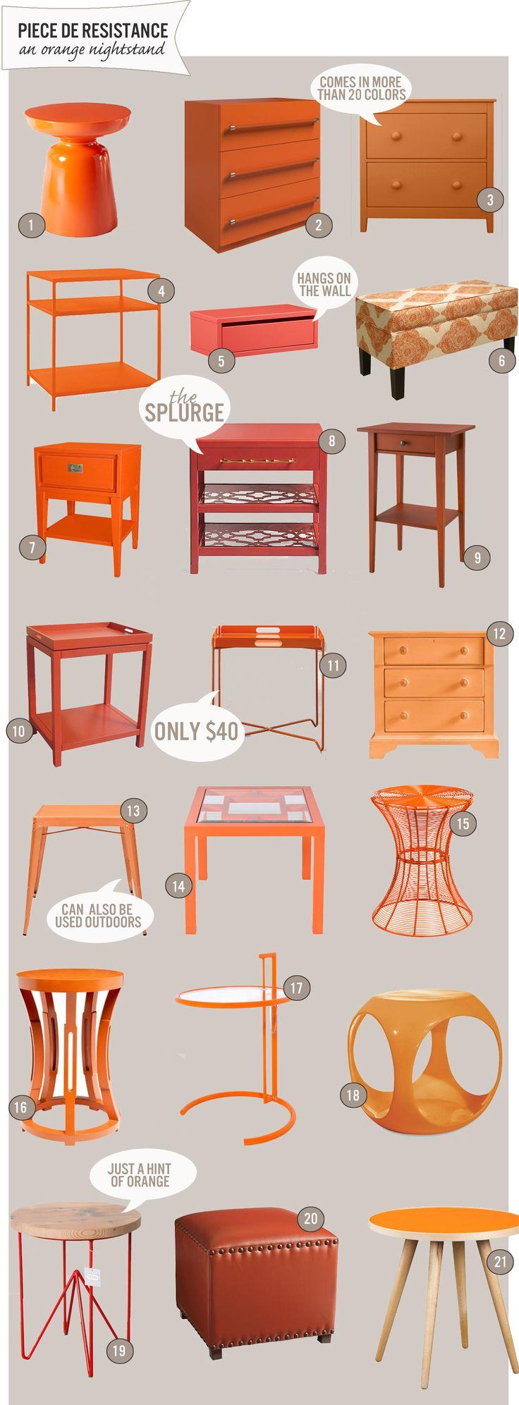 Diamond Dimple Closed Rocking Chair In 9 Kleuren - 21 orange nightstands www theanatomyofdesign com