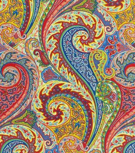 Colorful Waverly Red Paisley Home Decor Fabric Fabric