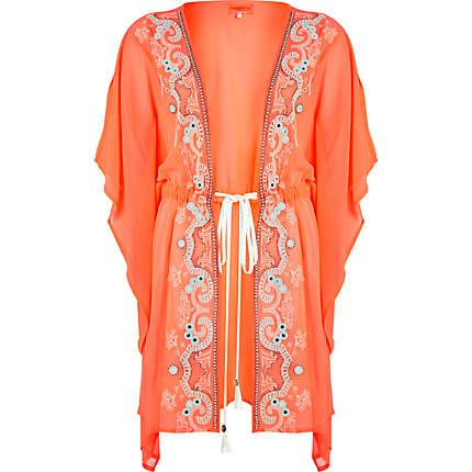 Coral Pacha mirror embellished kimono £50
