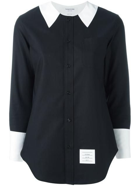 THOM BROWNE Contrast Collar Shirt. #thombrowne #cloth #shirt