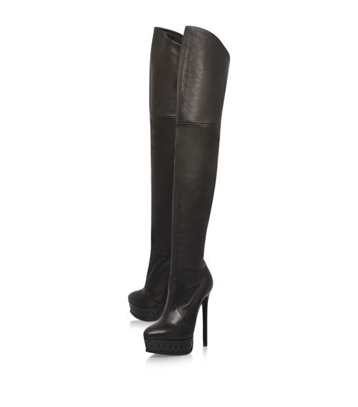 Shoes: Over The Knee Boots Casadei Platform Over-The-Knee Boots