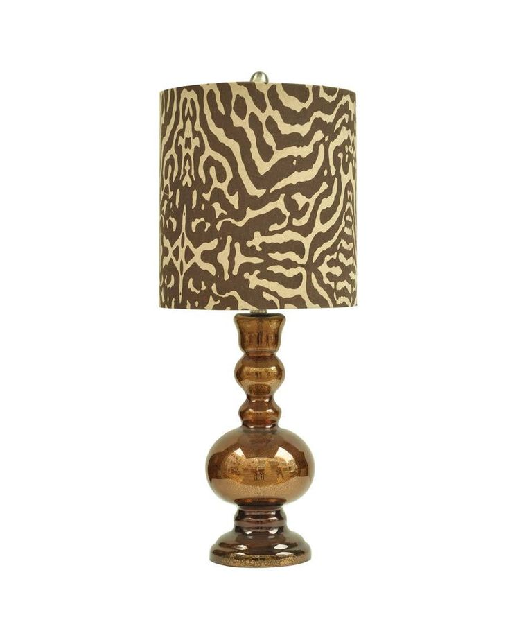Tanzinc Table Lamp With Animal Print Lamp Shade