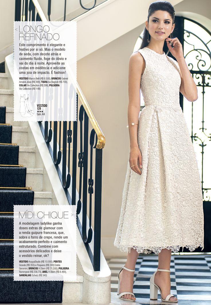 Vestido midi de renda guipir off white - Manequim Noivas 2017 Ateliê Esther Bauman Acquastudio São Paulo/SP