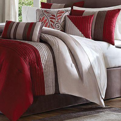 red king size comforter sets | Amherst Comforter Set Color: Natural, Size: King