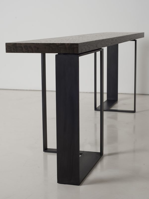 Rectangular Steel Console Table St Malo Collection By INTERNI EDITION |  Design Janine Vandebosch