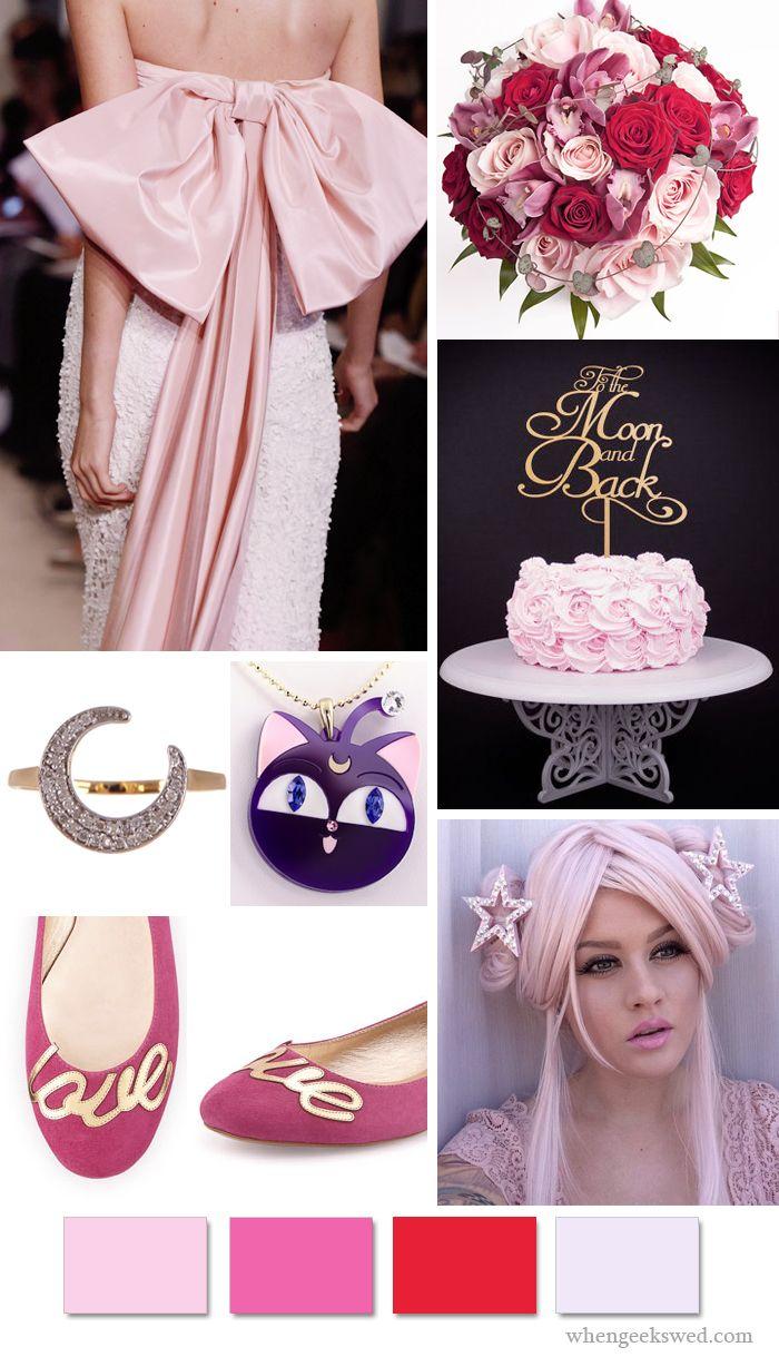 Sailor Chibi Moon Wedding Inspiration Board
