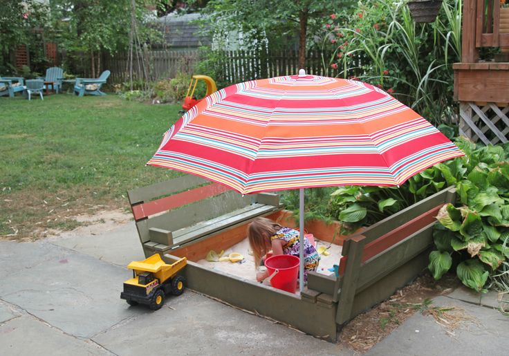 DIY Sandbox with Lid & Benches   Stately Kitsch