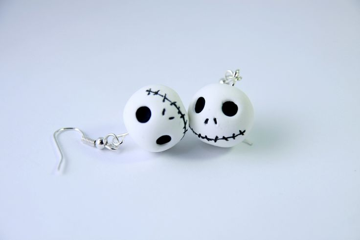 Pendientes Jack Skellington Jumping Clay
