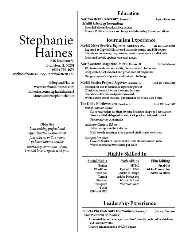 20 best images about My Resume on Pinterest Resume, My resume - broadcast journalism resume