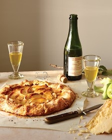 Cheddar in the pie dough and fresh apples in the filling give this dessert a rustic charm.Serving idea: Farmhouse-style cheddar cheese (murrayscheese.com) pairs well with this crostata.