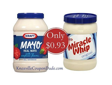 Kraft Mayo and Miracle Whip only $0.93 at Publix - Great Stock up price!!!