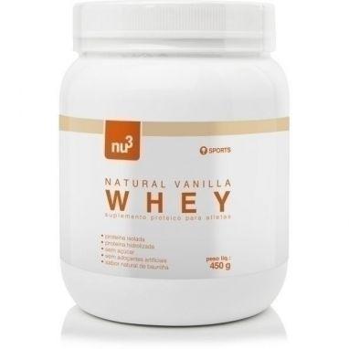 Clique para comprar Whey Protein, Baunilha, 450g, Nu3 Sports ✓ Ótimo preço. ✓; 26g de proteínas por porção.✓  Sem açúcar - Natue