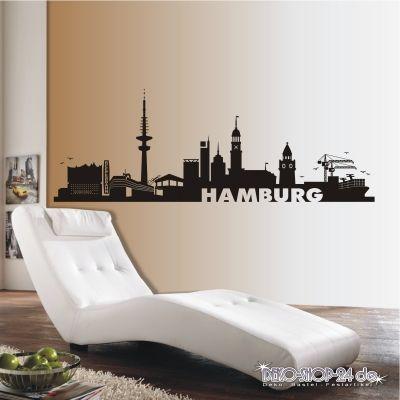 deko-shop-24.de-Wandtattoo-Skyline Hamburg