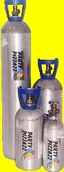 Helium Tank Rental with precut ribbon and balloon stock from Party Pizzaz on Waialae Ave- they were very accommodating!