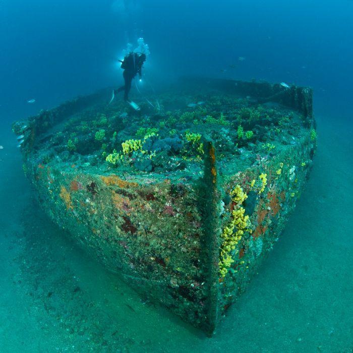 Australian WWI barge shipwreck off Anzac Cove, Gallipoli, Turkey. Tragic and beautful