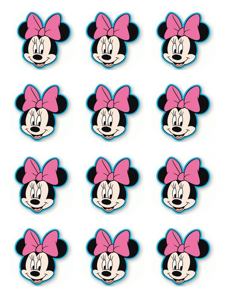 """Single Source Party Supply - 2.5"""" Minnie Mouse Cupcake Edible Icing Toppers"""