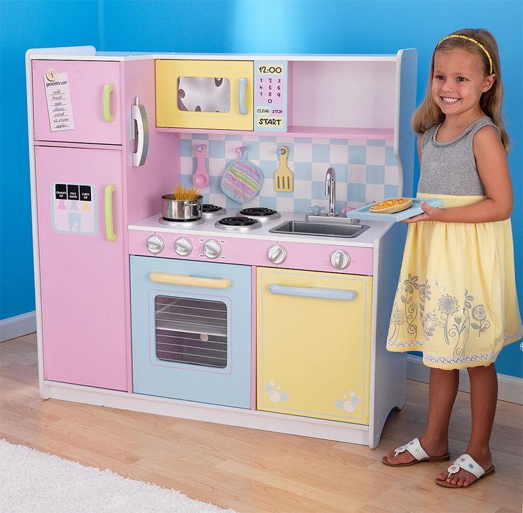Kidkraft Large Wooden Play Kitchen Pastel Kitchen