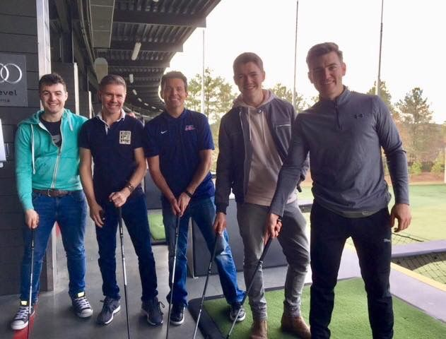 "‪Ryan Kelly on FB: ""The European Ryder cup team is sorted! ⛳️ Thanks to all Topgolf for giving us a brilliant day! Great Celtic Thunder Official day off!! #happytimes.""‬"