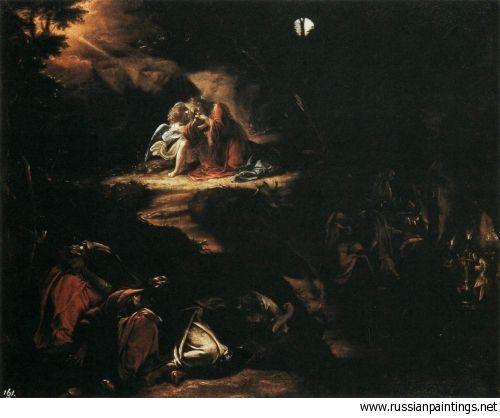 Borgianni Orazio - 1610 'Christ in the Garden of Gethsemane'  ORAZIO BORGIANNI (1574, Roma - 1616, Roma)   #TuscanyAgriturismoGiratola