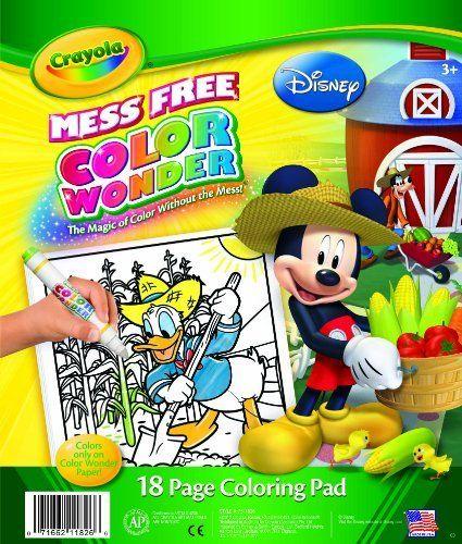 crayola color wonder disney preschool coloring pad by crayola 699 colors only appear on - Color Wonder Books