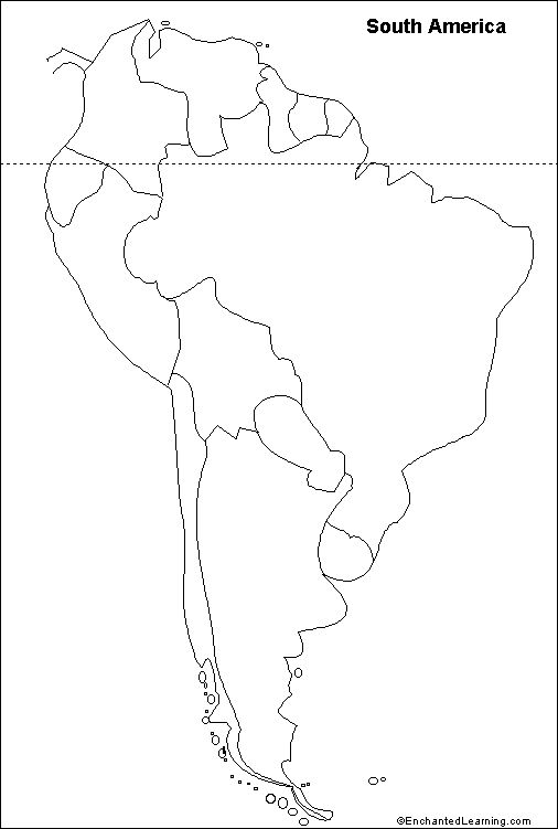 "outline map South America.Repinned by Elizabeth VanBuskirk on ""Inca Teaching."" Handy way for kids to learn the geography of South America. Just color in the countries?"