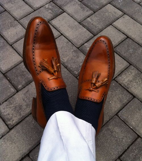 Saint Crispin's special tassel loafer excellently combinated by...