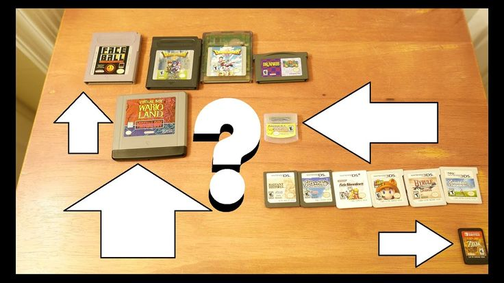 Meet Nintendo's Handheld Game Paks and Game Cards!