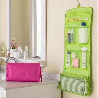 Portable foldable travel Cosmetic hanging case