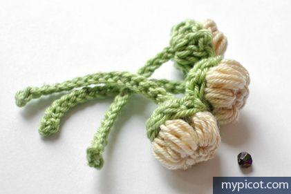 MyPicot   Free crochet patterns / Crochet Flower Bouquet - buds