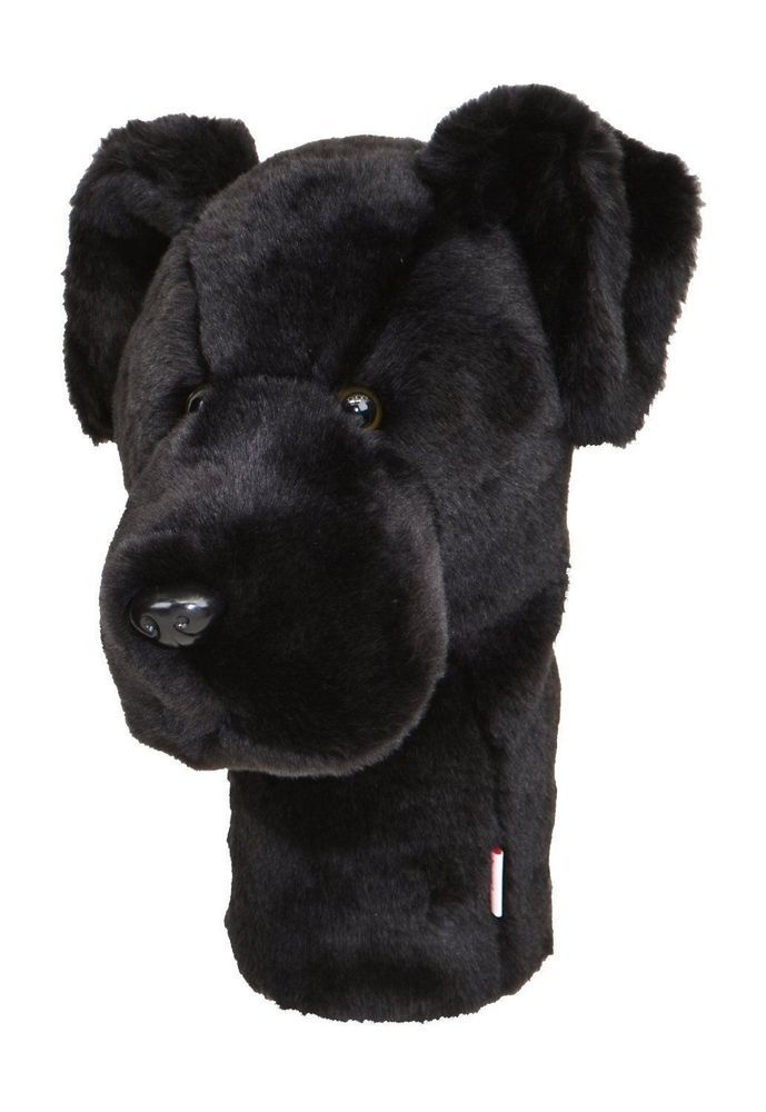 Black Lab Golf Animal Headcover Driver Head Cover Daphnes Golf Club Cover #DaphnesHeadcovers