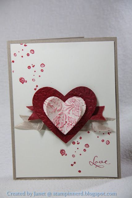 valentine card created by Janet