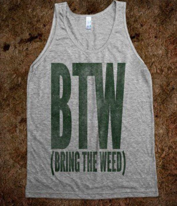 Bring the weed tank