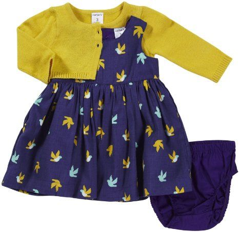 Amazon.com: Carter's Baby-girls Cardigan Dress Set: Baby