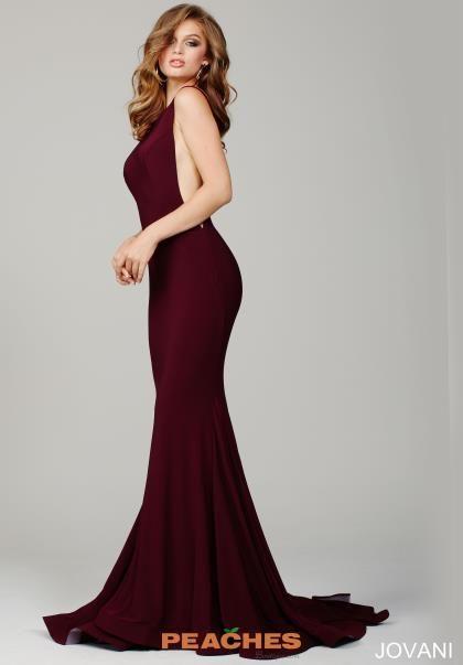 Jovani Navy High Neckline Fitted Dress 37592