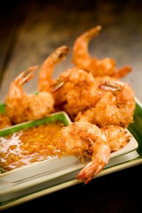 Making coconut shrimp tonight! :) going to try this one -- Bobby's Lighter Coconut Shrimp