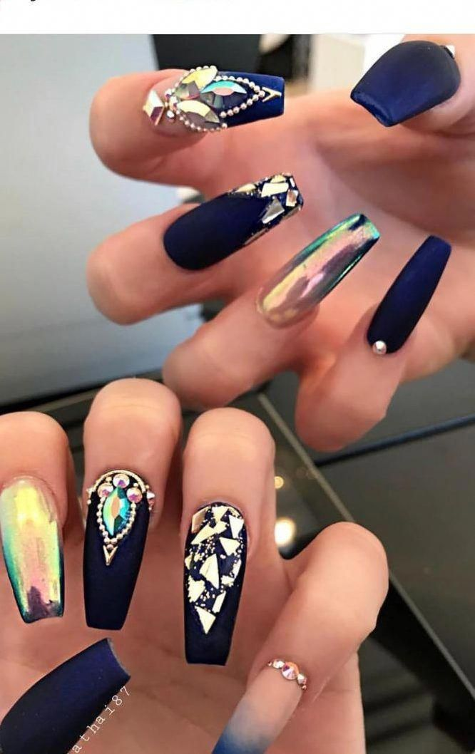 Coffinnails 50 Coffin Nails Designs Trends Nail Art Ideas 2019