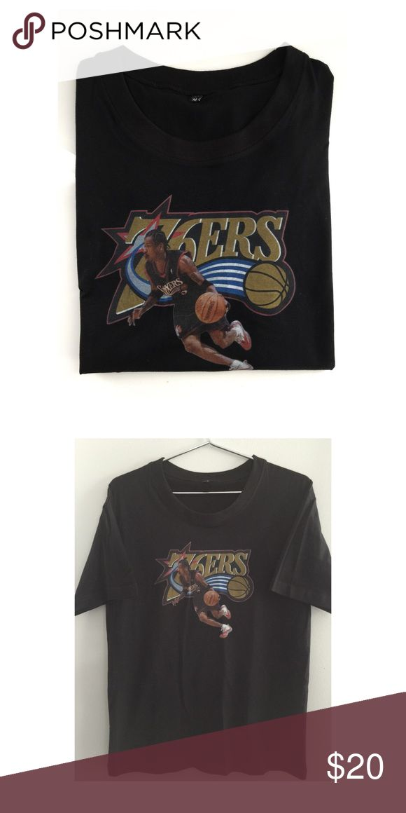 Vintage 76ers Allen Iverson T-Shirt Recent Basketball Hall of Fame inductee Allen Iverson T-Shirt. New, no tags. Shirts Tees - Short Sleeve