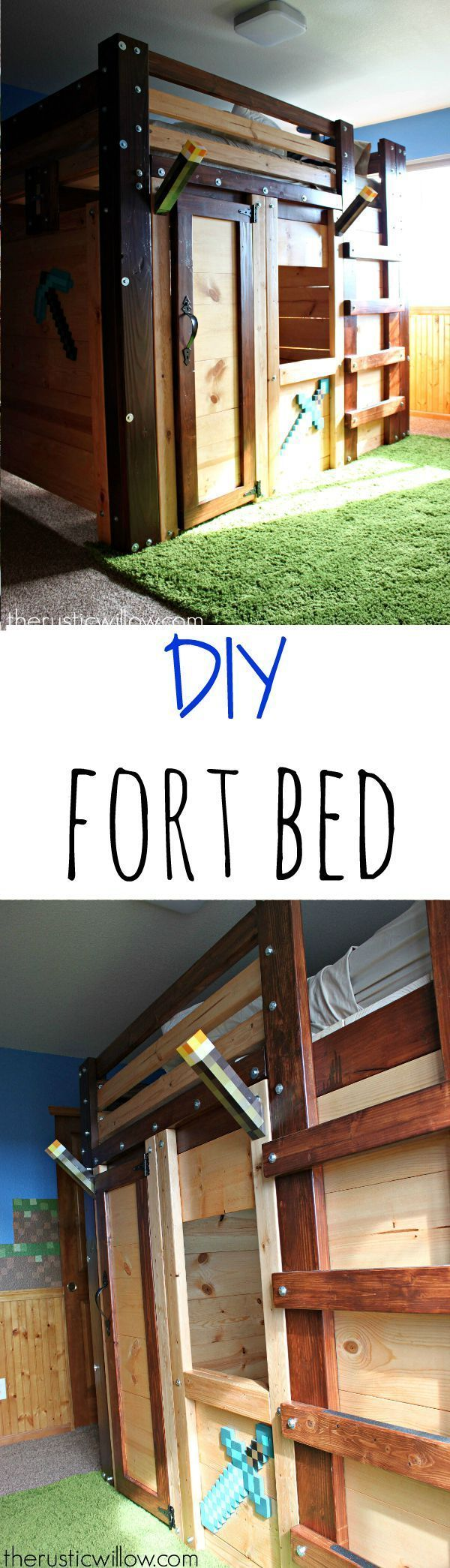 DIY Fort Bed for a children's dream room | http://therusticwillow.com