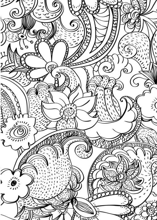 american hippie art coloring page paisley