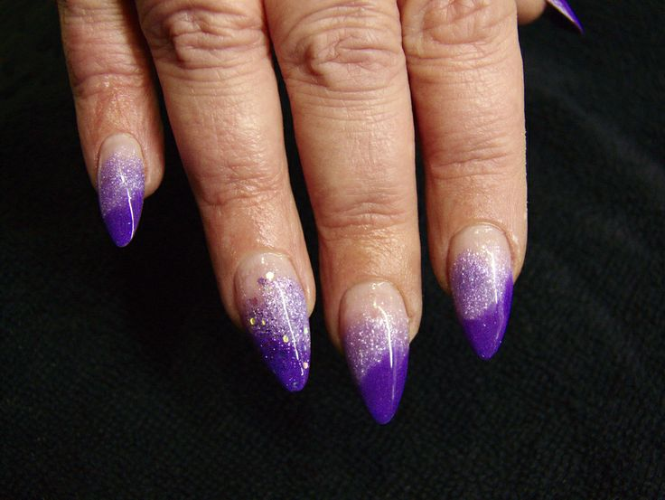 226 best pointed gel nails desgins images on pinterest gel nails long acrylic almond ombre nails with glitters facebooknailartinlondon solutioingenieria Images