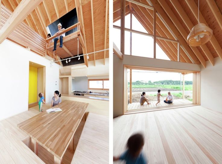 This wooden house in Saitama Prefecture in Japan embodies the principle of openness and freedom.