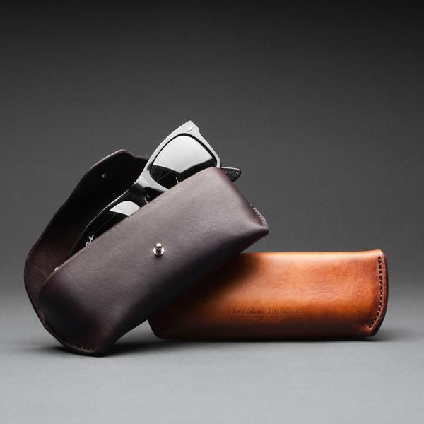 Leather glasses cases made in Australia