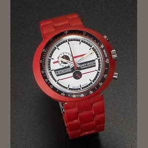 Leonidas. A plastic manual wind chronograph wristwatch for Grand Prix driver Jacky Ickx