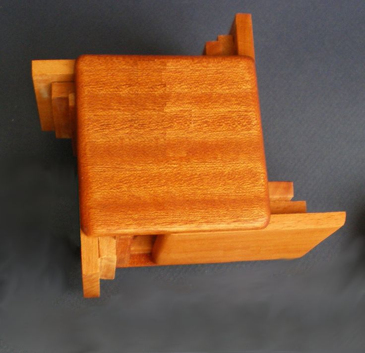 Japanese puzzle box. Cute had made gift with a hidden compartment in side to hid a gift! A two in one