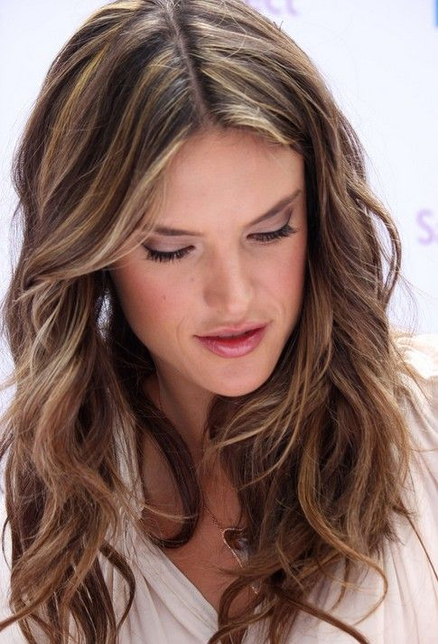 Layered, Light Brown Hairstyles, Alessandra Ambrosio Hair