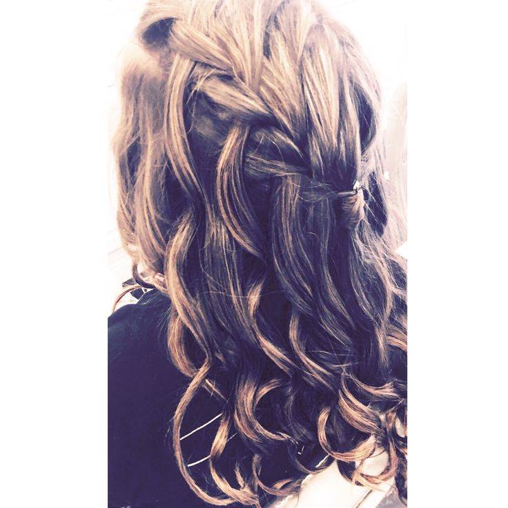 Astonishing 17 Best Ideas About Waterfall Braid Curls On Pinterest Trenza Hairstyle Inspiration Daily Dogsangcom