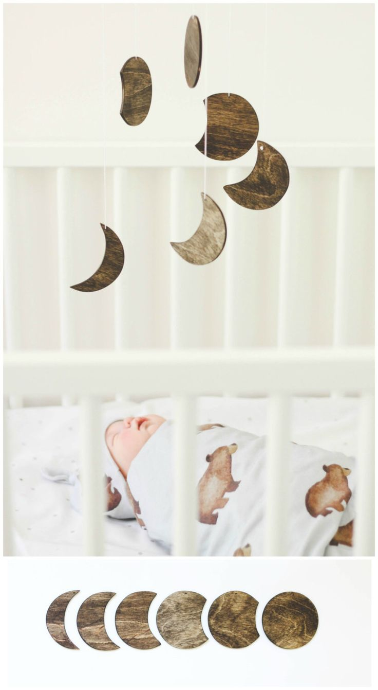 Moon Phase Wood Mobile Geometric Baby Boy Girl Nursery Decor Rustic Crib Minimal Gender Neutral Space Outerspace Planets by TheDreamBarn on Etsy https://www.etsy.com/listing/203800575/moon-phase-wood-mobile-geometric-baby