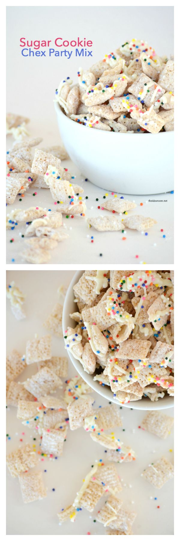 sugar cookie chex party mix pin